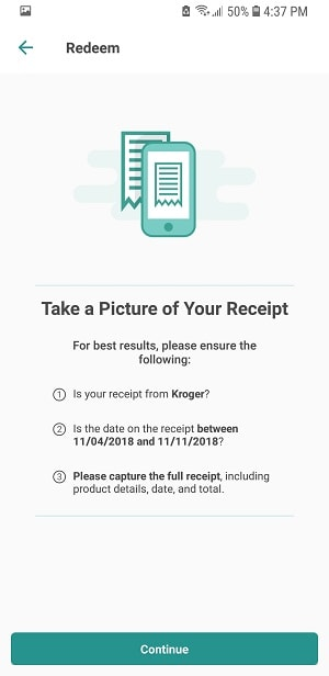 Take a picture of your receipt with your phone to get cash back with Ibotta
