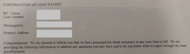 Done! Loan payoff confirmation