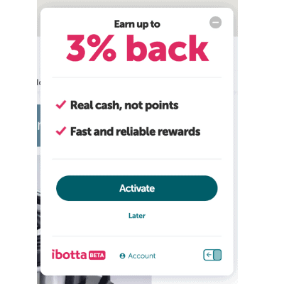 Ibotta Browser Extension cash back offer at JCPenney.com