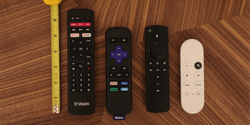 TVision HUB remote compared to Roku, Amazon Fire TV and Chromecast with Google TV.