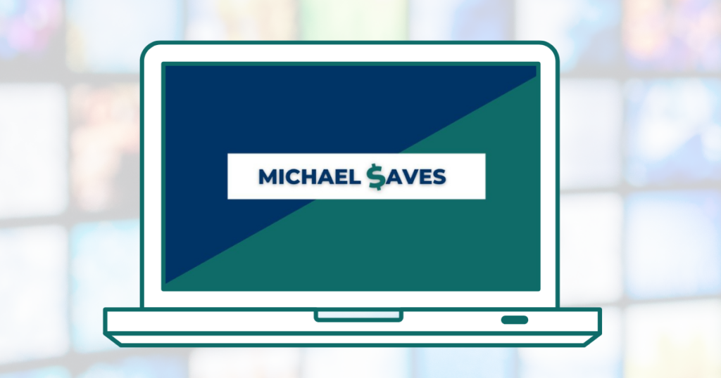 Michael Saves logo on computer screen